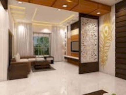 Astonishing partition design ideas for living room 22