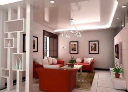 Astonishing partition design ideas for living room 41
