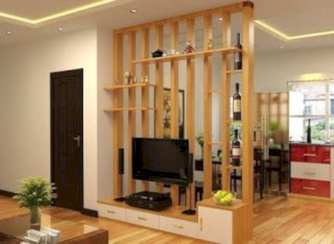 52 Astonishing Partition Design Ideas For Living Room