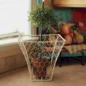Best ideas to reuse old wire baskets 21