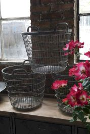 Best ideas to reuse old wire baskets 33