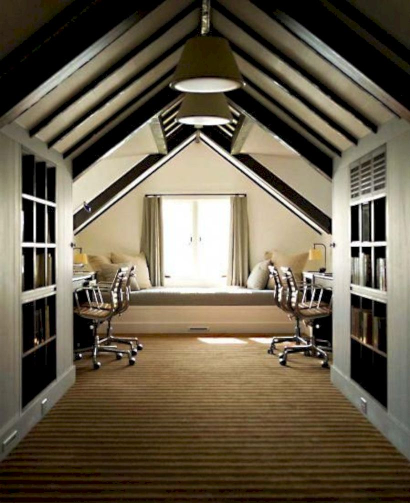Charming bedroom design ideas in the attic 09
