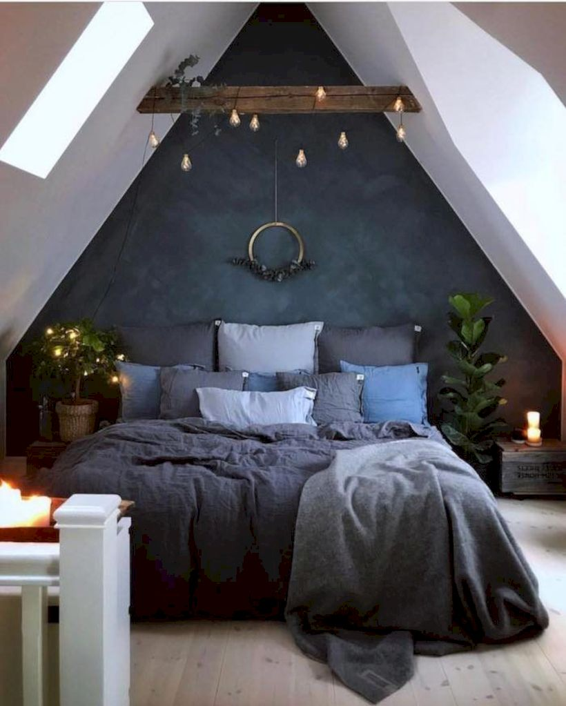 Charming bedroom design ideas in the attic 14