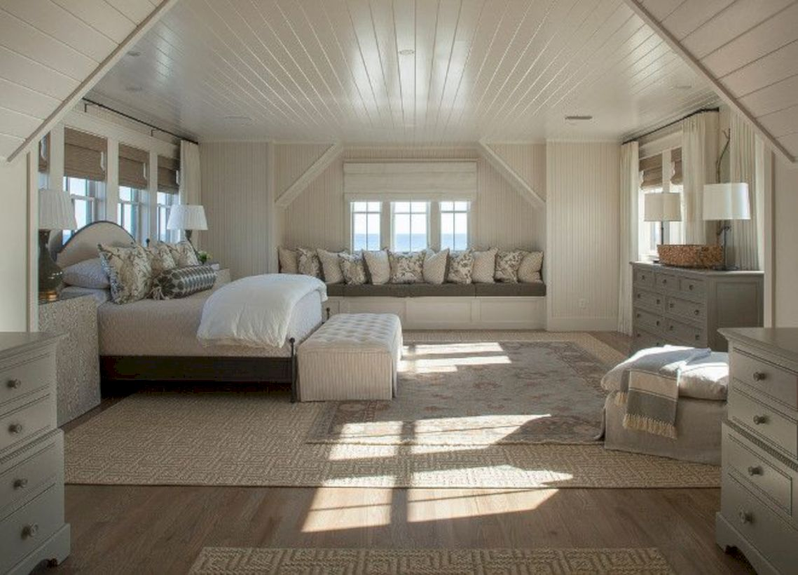 Charming bedroom design ideas in the attic 20