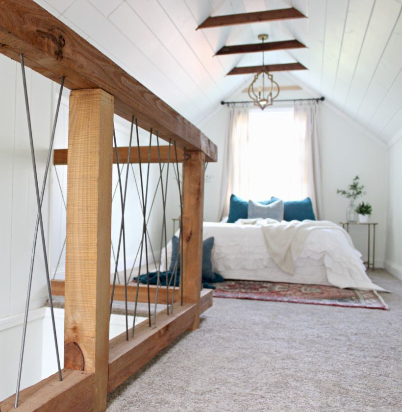 Charming bedroom design ideas in the attic 37