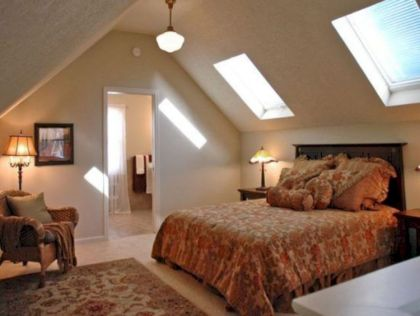 Charming bedroom design ideas in the attic 39