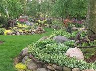 Charming flower beds ideas for shady yards 22