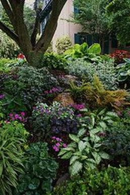 Charming flower beds ideas for shady yards 35