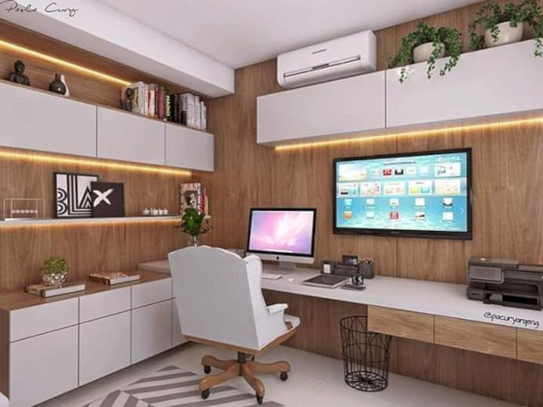 Classy home office designs ideas 08