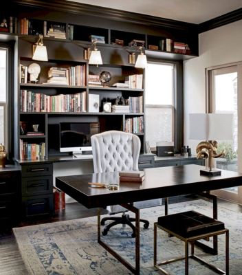 Classy home office designs ideas 26