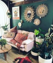 Cool living room designs ideas in boho style06