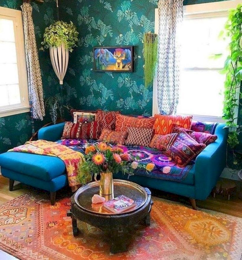 Cool living room designs ideas in boho style08
