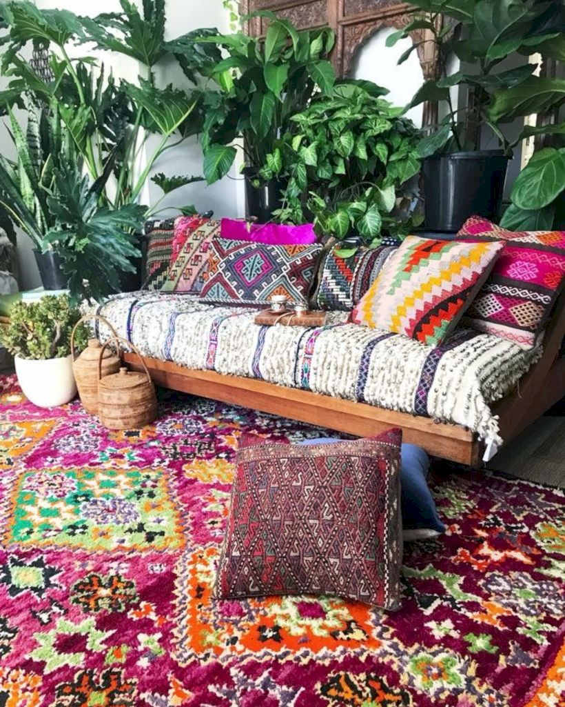 Cool living room designs ideas in boho style09