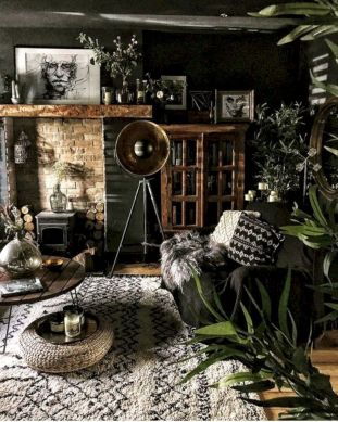 Cool living room designs ideas in boho style10