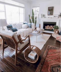 Cool living room designs ideas in boho style16