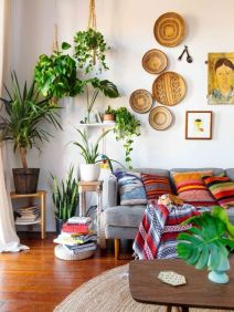 Cool living room designs ideas in boho style25