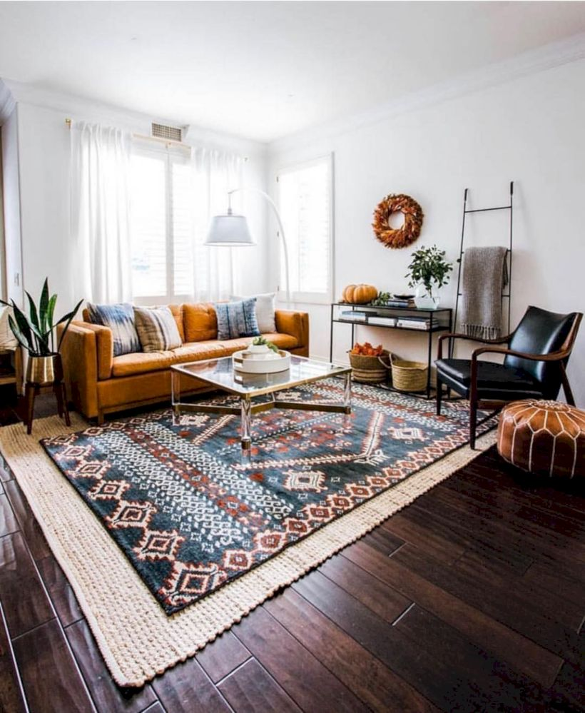 Cool living room designs ideas in boho style34