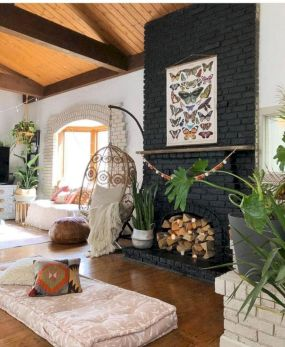 Cool living room designs ideas in boho style35
