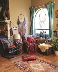 Cool living room designs ideas in boho style38