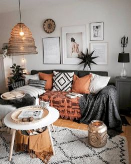 Cool living room designs ideas in boho style39