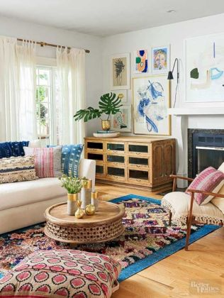 Cool living room designs ideas in boho style45