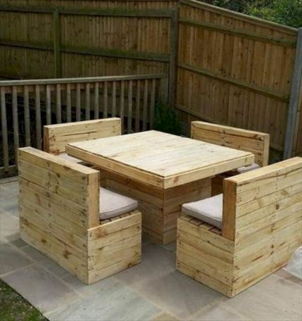 Graceful pallet furniture ideas 14