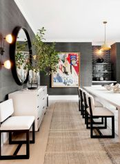Lovely dining room tiles design ideas 17