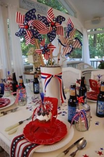 Newest 4th of july table decorations ideas 05