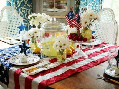 Newest 4th of july table decorations ideas 15