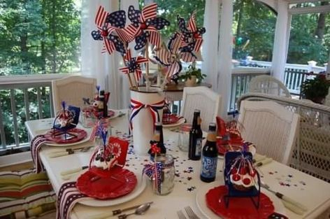 Newest 4th of july table decorations ideas 17