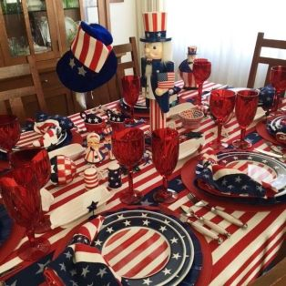 Newest 4th of july table decorations ideas 20