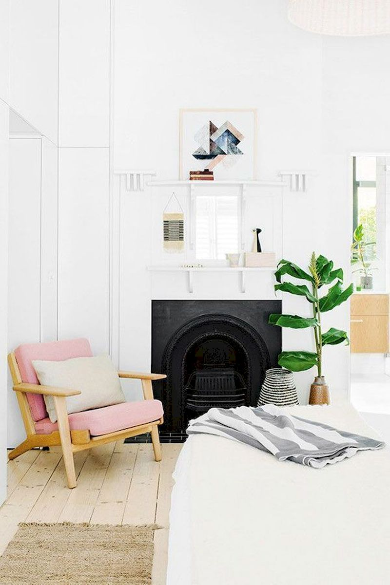 Attractive painted brick fireplaces ideas 04