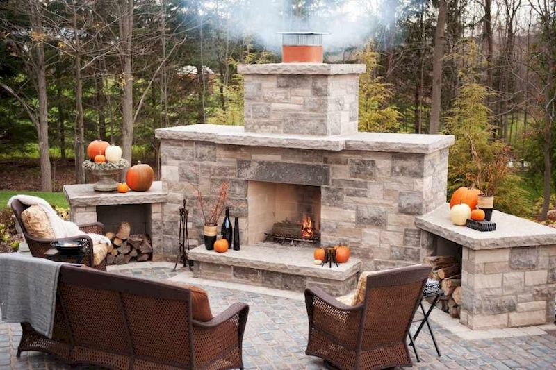 Attractive painted brick fireplaces ideas 07