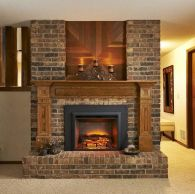 Attractive painted brick fireplaces ideas 16