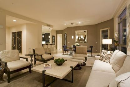 Awesome living room paint ideas by brown furniture 06