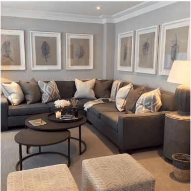 Awesome living room paint ideas by brown furniture 11