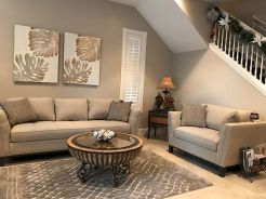 Awesome living room paint ideas by brown furniture 13