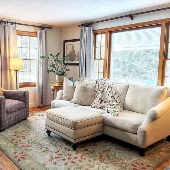 Awesome living room paint ideas by brown furniture 14