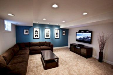 Awesome living room paint ideas by brown furniture 18