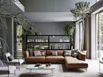 Awesome living room paint ideas by brown furniture 31