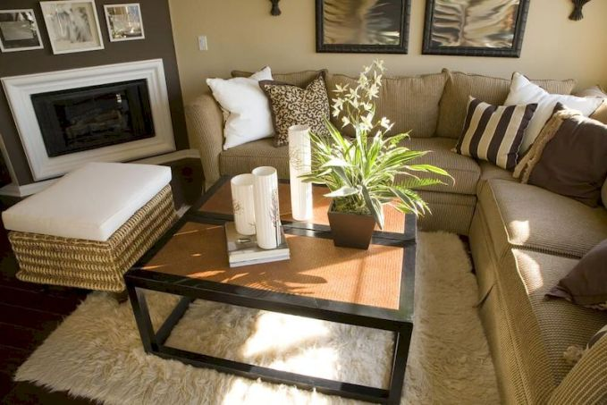 Awesome living room paint ideas by brown furniture 33