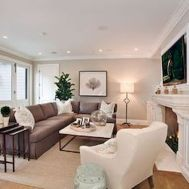 Awesome living room paint ideas by brown furniture 39