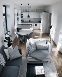 Cool diy beautiful apartments design ideas 29