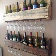 Elegant wine rack design ideas using wood 26