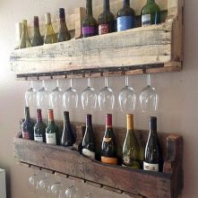 Elegant wine rack design ideas using wood 26