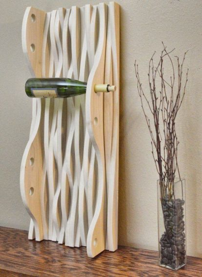 Elegant wine rack design ideas using wood 30
