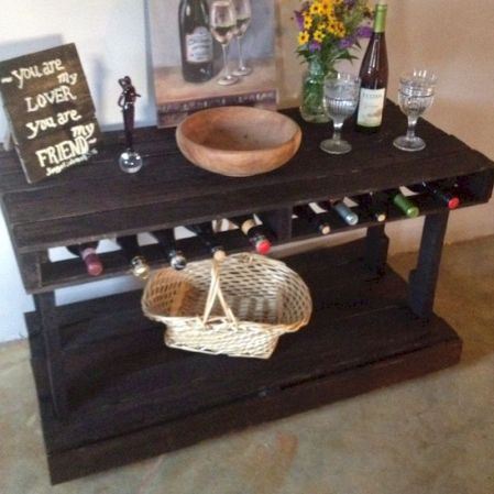Elegant wine rack design ideas using wood 34