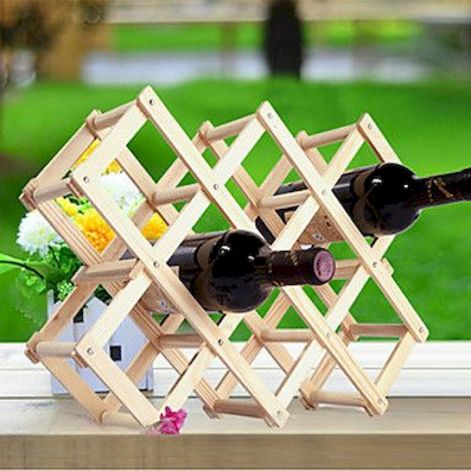 Elegant wine rack design ideas using wood 40