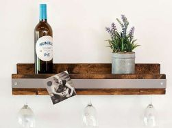 Elegant wine rack design ideas using wood 42