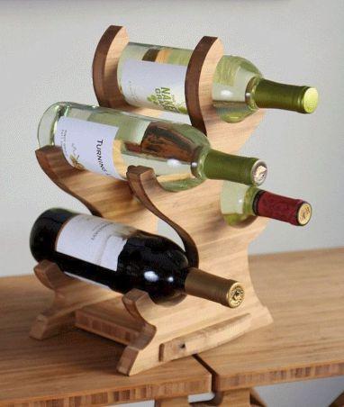 Elegant wine rack design ideas using wood 48